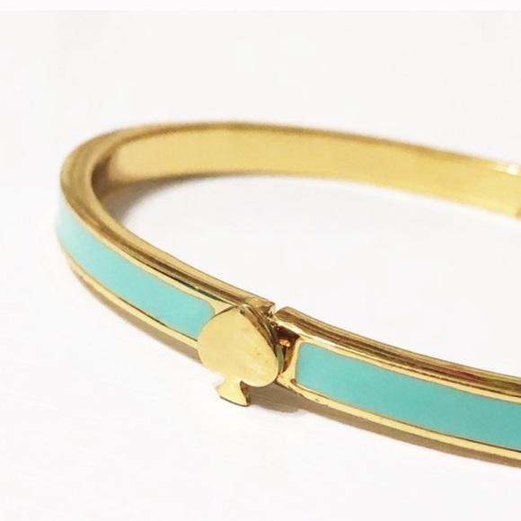 kate spade Jewelry - Kate Spade • Green Enamel Hinged Bangle Bracelet